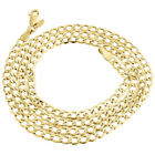 Mens Hollow 10K Yellow Gold 4 MM Cuban Curb Link Chain Necklace 16-30 Inches