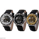 Men's Mechanical Stainless Steel Quartz Army Sport Wrist Watch Gift Leather Band