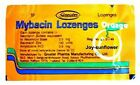 Mybacin Lozenges for Relief Sore Throat, Tonsillitis, Gingivitis – Oragne flavor