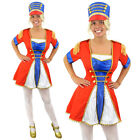 LADIES TOY SOLDIER MAJORETTE & HAT FANCY DRESS COSTUME ARMY AIR FORCE WARTIME