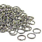 200 Pcs SILVER TONE Metal Double Loop SPLIT RINGS! 5,6,7,8,9,10mm