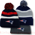 New England Patriots Beanie Logo NFL Football Skull Cap Embroidered Hat On Field