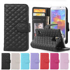 Quilted Leather Stand Flip Wallet Case Cover For Samsung Galaxy S3 S4 S5 Note 3