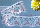 """Lace Trim Pink 2 Yards Scalloped 1-5/8"""" Fancy Fabric N21V More Ship Free BT2Y"""