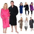 Ladies & Mens Fleece Bath Robe Dressing Gown Housecoat Bathrobe - A Great Gift!