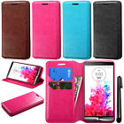 For LG G3 mini Vigor D725 Wallet Tray LEATHER Skin POUCH Case Phone Cover + Pen