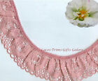 """Lace Trim Rose Ruffled Scalloped 1-1/2"""" Floral Fabric RB03V More Ship Free BTY"""