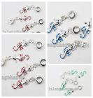 5/25x New Arrival Enamel Alloy Sea Horse European Dangle Charms Bead Fit DIY LC
