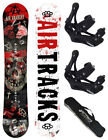 SNOWBOARD SET AIRTRACKS DUST WIDE+BINDUNG RAGE FASTEC 360+BAG/150 155 159 163cm/
