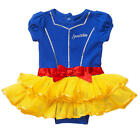 Disney Girls Blue/Yellow Snow White Short Sleeve Tutu Creeper