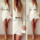 Hot Women Bandage Bodycon Long Sleeve Evening Sexy Party Cocktail Mini Dress