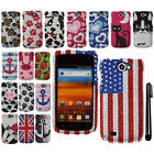 For Samsung Exhibit 2 4G T679 DIAMOND BLING CRYSTAL HARD Case Phone Cover + Pen