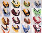 *16 TEAM COLORS* upcycled loop Infinity SCARF Circle noodle Scarf Necklace Women