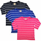 Hollister Womens T Shirt Tee Bettys Striped Scoop Neck Seagull xs s m V427