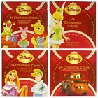 DISNEY CHARACTER CHRISTMAS (XMAS) CARD BOX SETS - CUBE SET (Kids Children)