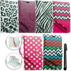 For Alcatel One Touch Fierce 2 7040T Design LEATHER POUCH Case Phone Cover + Pen