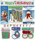 CHRISTMAS PARTY BANNERS & DECORATIONS - Door Letter Foil Cutouts Xmas