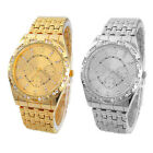 Luxury Geneva Men Diamond Metal Band Analog Quartz Fashion Wrist Watch Cheap
