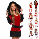 Sexy Miss Santa Claus Fancy Dress Xmas Christmas Costume Complete Outfit