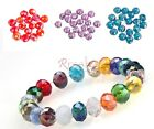 80pcs Rondelle Charm Crystal DIY Loose Spacer Beads 4x6mm For Jewelry Making