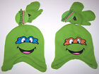 Nwt New Teenage Mutant Ninja Turtles Hat Cap Beanie Mittens Set Green Cute Boy