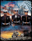 "American U.S. Military "" MARINES OVER THE YEARS "" 50/50 Gildan/Jerzees T SHIRT"