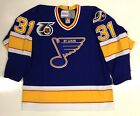 CURTIS JOSEPH ST LOUIS BLUES 25TH NHL 75TH ANNIVERSARY 1992 CCM VINTAGE JERSEY