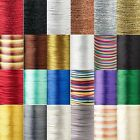 3 Yards 2mm Thick Rattail Satin Craft Beading Cord String Cording For Beads