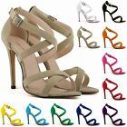 Womens Sexy High Heel Ankle Strap Stilettos Sandals Pumps Size 2-9