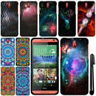 For HTC Desire 610 Mandala Galaxy PATTERN HARD Protector Case Phone Cover + Pen