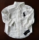 NWT Ralph Lauren Boys White Big Pony Blake Oxford Shirt 2/2t 3/3t 4t NEW $45 5l