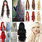 Beauty Long Silky Wavy Curly Cosplay Fashion hair heat resistant Full wig