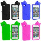Cat Kitty Color Silicone Skin Case Cover for iPhone 4 4S 4G Accessory