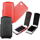 For Iphone 4 4S Genuine Leather flip case pouch sleeve