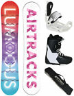 DAMEN SNOWBOARD SET AIRTRACKS LUMINOUS+BINDUNG+BOOTS+SB BAG/140 145 150 155 cm/