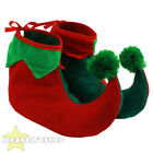 ELF SHOES CHRISTMAS FANCY DRESS ACCESSORY SANTA'S HELPER ELF BOOTS PIXIE SHOES