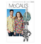 Sew & Make McCall's M6086 SEWING PATTERN - Adult Unisex BUTTON FRONT SHIRTS