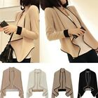 Fashion Womens Asym  Neck Loose Cardigan Sweater Casual Coat Tops Blouse