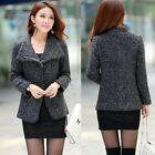 Womens Fashion Wool Cashmere Winter Coat Blazer Suit Jacket Outwear Outwear New