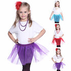 Lovely Girls Kids Fairy Ballet Party Tulle Tutu Skirt Princess Dress Pettiskirt