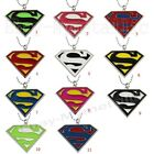 Super Hero Superman Logo Colorful PVC Pendant Necklace