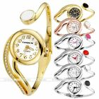 1pc Elegant Style Crystal Metal Band Quartz Analog Wrap Watch Bracelet Womens