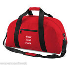 Personalised Classic Travel Holdall Sports Kit Bag Your Slogan Name School BG22