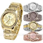 Mens Women Unisex Trendy Geneva Bling Crystal Alloy Quartz Wrist Watch ee