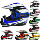 Leopard LEO-X16 Child Youth Junior Kids Motorbike Motorcross MX Helmet + Goggles