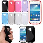 S Line Wave Slim Soft TPU Back Case Cover For Samsung Galaxy Trend Plus S7580