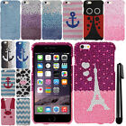 For Apple Iphone 6 Plus 5.5 inch DIAMOND BLING HARD Case Phone Cover + Pen