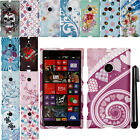For Nokia Lumia 1520 Bandit Rubberized PATTERN HARD Case Phone Cover + Pen