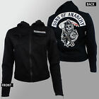 Authentic SONS OF ANARCHY Women's Patch Highway Twill Lined Jacket M-2XL NEW