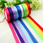 "New 5/8"" (15mm)25 yds satin ribbon wedding craft sewing decorations many colors"